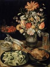 'Still Life with Flowers and Snack', c1630-c1635. Artist: Georg Flegel