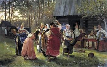 'Eve-of-the-Wedding Party', 1889. Artist: Alexei Ivanovich Korzukhin