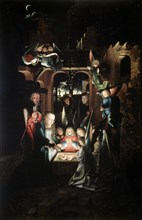 'The Nativity of Christ (The Holy Night)', early 16th century Artist: Jan Joest