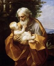 'Saint Joseph with Infant Christ', 1620s.  Artist: Guido Reni