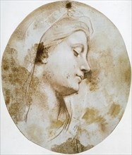 'Head of the Virgin', late 17th or 18th century.  Artist: Louis de Boullogne II