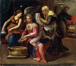 'The Child's Bath', 16th century.  Artist: Parmigianino