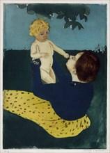 Cassatt, 'Under the horse chestnut tree'