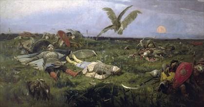 Vasnetsov, 'The field of Prince Igor battle with the Kipchaks'