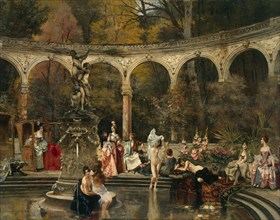 Flameng, 'Bathing of Court Ladies in the 18th Century'
