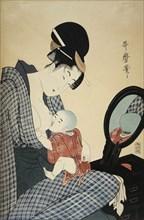 Utamaro, 'Mother and Child'