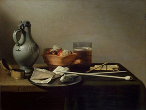 Claesz, 'Still Life with Clay Pipes'