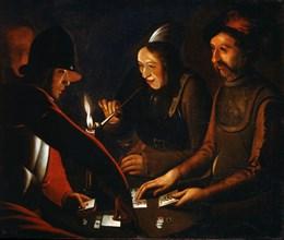 'Soldiers Playing Cards', 17th century. Artist: Georges de la Tour