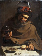 'Breakfast', early 17th century. Artist: Bartolomeo Manfredi