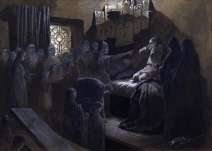 'Ivan the Terrible and the Ghosts of His Victims', 19th or early 20th century. Artist: Mikhail Petrovich Klodt