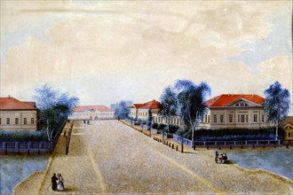 'View of the Treasury in Tver', 1830s. Artist: Russian Master