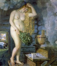 'Russian Venus', 1925-1926.  Artist: Boris Mikhajlovich Kustodiev