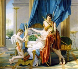 'Sappho, Phaon and Cupid', 1809.  Artist: Jacques-Louis David
