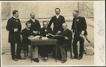 The members of the First International Olympic Committee. Athens, Greece, 1896.