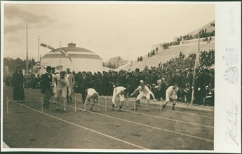 Olympic Games, 1896. Preparation for the 100-meter race, 1896.