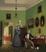 The Waagepetersen Family, 1830. Artist: Bendz, Wilhelm (1804-1832)