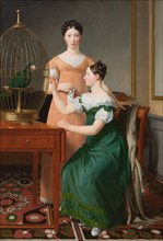 Mendel Levin Nathanson's Elder Daughters, Bella and Hanna, 1820. Artist: Eckersberg, Christoffer-Wilhelm (1783-1853)