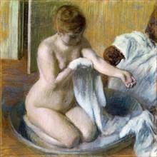 Femme au tub, ca. 1883. Artist: Degas, Edgar (1834-1917)