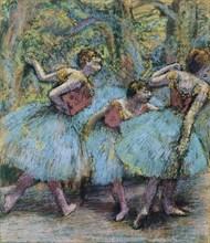 Three Dancers (Trois danseuses), c. 1903. Artist: Degas, Edgar (1834-1917)