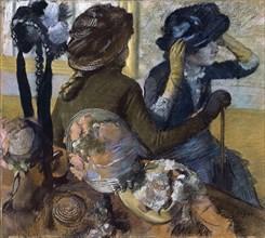 At the Milliner's, 1882. Artist: Degas, Edgar (1834-1917)