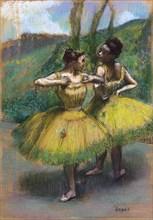 Danseuses jupes jaunes (Deux danseuses en jaune). Artist: Degas, Edgar (1834-1917)