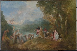 Pilgrimage to Cythera (Embarkation for Cythera), 1717. Artist: Watteau, Jean Antoine (1684-1721)