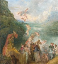 Pilgrimage to Cythera (Embarkation for Cythera) Detal: Putti, 1717. Artist: Watteau, Jean Antoine (1684-1721)