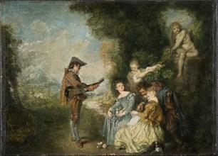 The Love Lesson, 1716-1717. Artist: Watteau, Jean Antoine (1684-1721)