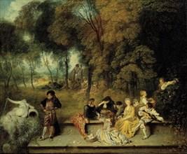 Pleasures of Love, ca. 1718-1719. Artist: Watteau, Jean Antoine (1684-1721)