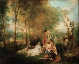The Feast of Love, ca. 1718-1719. Artist: Watteau, Jean Antoine (1684-1721)
