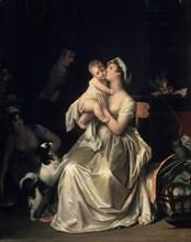 Motherhood, 1800s. Artist: Gerard, Marguerite (1761-1837)