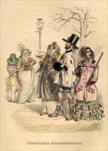 Women's Freedom of Dress, 1840s. Artist: Grandville, Jean-Jacques (1803-1847)