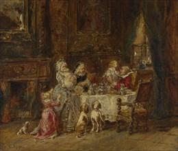 Grandfather's Birthday, 1866. Artist: Isabey, Louis Gabriel Eugène (1803-1886)