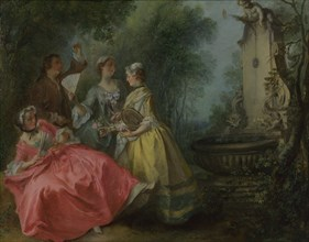 The Four Times of Day: Midday, c. 1740. Artist: Lancret, Nicolas (1690-1743)