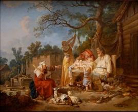 The Russian Cradle, ca 1764-1765. Artist: Le Prince, Jean-Baptiste (1734-1781)