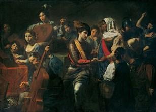 Merry Company with Fortune Teller, 1631. Artist: Valentin de Boullogne (1591-1632)