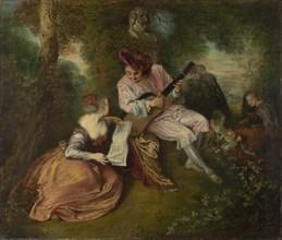The Scale of Love (La Gamme d'Amour), 1715-1716. Artist: Watteau, Jean Antoine (1684-1721)