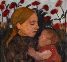 Girl with child, 1902. Artist: Modersohn-Becker, Paula (1876-1907)