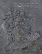 Pair of lovers with the Devil and Cupid, 1503. Artist: Strigel, Bernhard (ca 1460-1528)