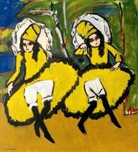Two Dancers, 1910-1911. Artist: Kirchner, Ernst Ludwig (1880-1938)