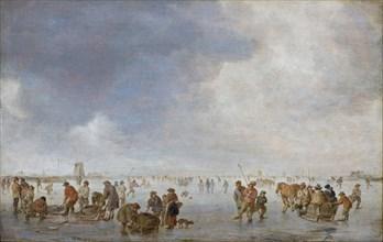 Winter Scene on the Ice. Artist: Goyen, Jan Josefsz, van (1596-1656)