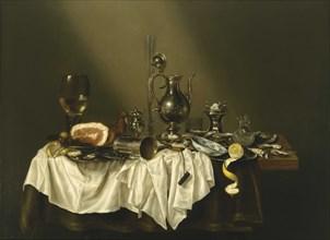 Banquet Piece with Ham, 1656. Artist: Heda, Willem Claesz (1594-1680)