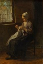 The young seamstress, c. 1880. Artist: Israëls, Jozef (1824-1911)