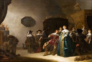 Merry Company, 1633. Artist: Palamedesz, Anthonie (1601-1673)