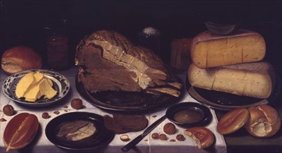 Breakfast, 1615-1620. Artist: Schooten, Floris, van (ca. 1590-after 1655)