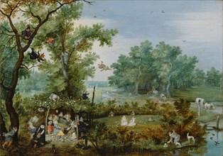 A Merry Company in an Arbor, 1615. Artist: Venne, Adriaen Pietersz. van de (1589-1662)