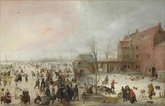 A Scene on the Ice near a Town, c. 1615. Artist: Avercamp, Hendrick (1585-1634)