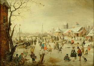 A scene on the Ice, c.1630. Artist: Avercamp, Hendrick (1585-1634)