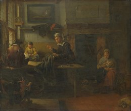 Interior of a Tailor's Shop, c. 1660. Artist: Brekelenkam, Quiringh van (ca 1622-ca 1669)