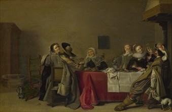 A Merry Company at Table, 1630. Artist: Pot, Hendrik Gerritsz. (1580/81-1657)